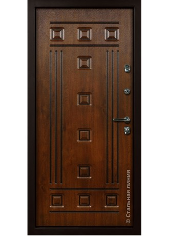 Металлическая дверь Стальные линии Аркадия (Дуб золотистый)