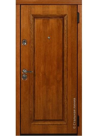 Металлическая дверь Стальные линии Баллада (Коньячный)
