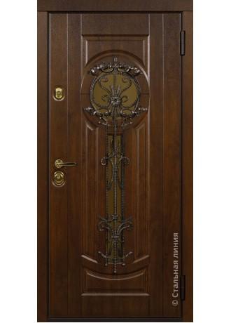 Металлическая дверь Стальные линии Афины (Дуб золотистый)