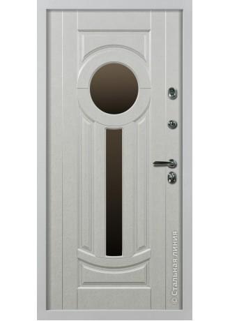 Металлическая дверь Стальные линии Афины (Белый)