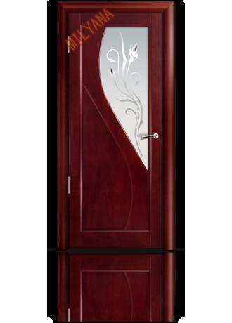 Межкомнатная дверь Мильяна Venice (Красное дерево) ПО