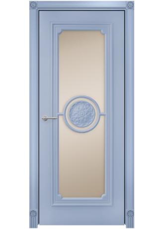 Флоренция эмаль белая МДФ сатинат бронза