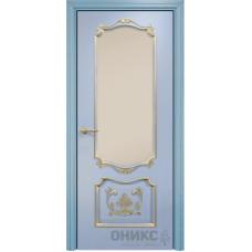 Венеция с декором голубая эмаль патина золото сатинат бронза