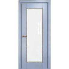 Александрия 1 голубая эмаль патина золото триплекс белый