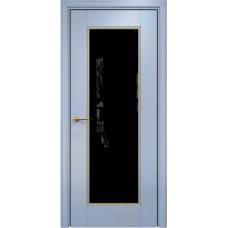 Александрия 1 голубая эмаль патина золото триплекс черный